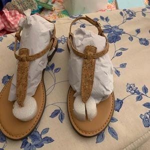 J.Crew cork t-strap sandals